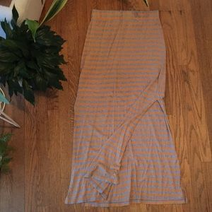 Threads 4 Thought stripped maxi shirt